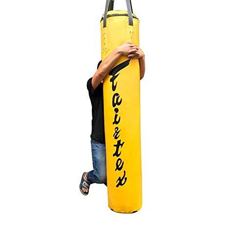 1,5M/1,7M/1,8M/2M Saco de Boxeo Equipo Saco de Ejercicio con la Cadena Anillo, Amarillo (Size : 1.8M)