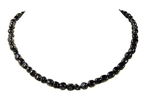 Wunderschöne Halskette aus dem Edelstein schwarzem Turmalin in Freiform