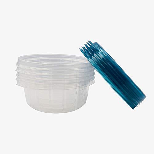 Contenedores para alimentos, 60 piezas (30 bases + 30 tapas), envases de plástico redondo 24 oz/710 ml