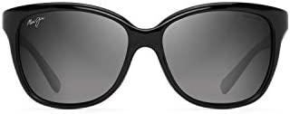 Maui Jim Women s Starfish Cat Eye Sunglasses Black Gloss W Man Utd Neutral Grey Polarized Medium product image