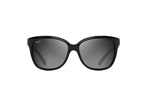 Maui Jim Women's Starfish w/ Patented PolarizedPlus2 Lenses Polarized Fashion Sunglasses, Black Gloss W/Man Utd/Neutral Grey Polarized, Medium