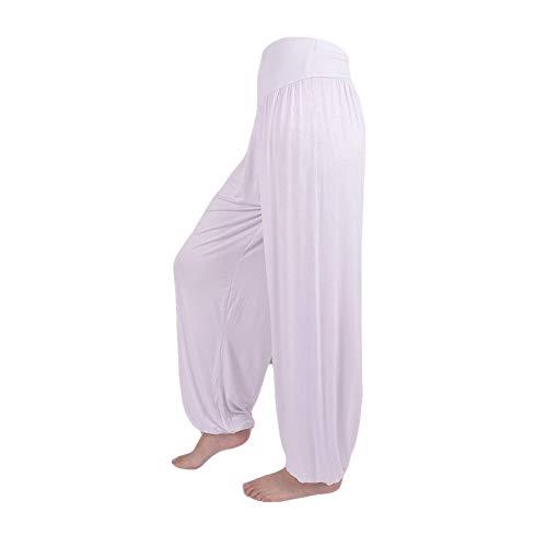FEYTUO Pantalones Hombres Mujeres Pantalones Harem Tailandeses Boho Festival Harem Hippy Smock Cintura Alta Deporte Atlético Estiramiento Pantalones De Yoga Entrenamiento Capri Leggings