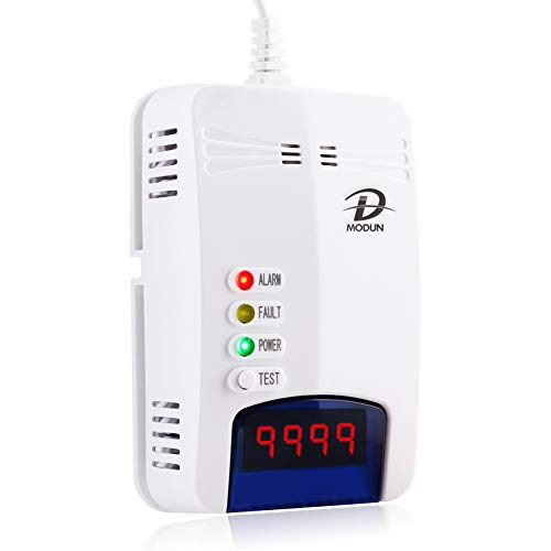 Detectores de gas, LPG | Gas Natural | Coal Gas Leak Detector, Plug-in Sensor Gas Monitor with Sound Alarm and LED Display, Methane Propane Butane Combustible Gas Alarm Apto para cocinas domésticas