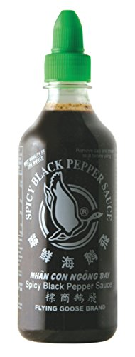 FLYING GOOSE SPICY BLACK PEPPER SAUCE PFEFFERSAUCE 455ML. SEHR SCHARF!