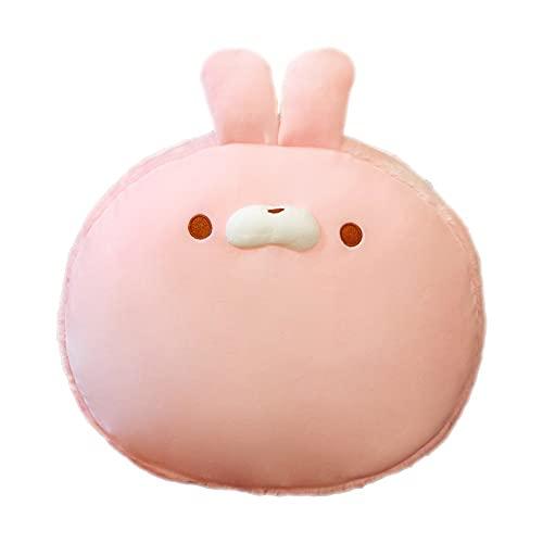 Macaron Color Cute Face Pillow Lindo muñeco de Peluche Animales de Peluche Regalo de Felpa esponjosa para cumpleaños de niños y Adultos (Conejo, ratón, Pato, Gato)