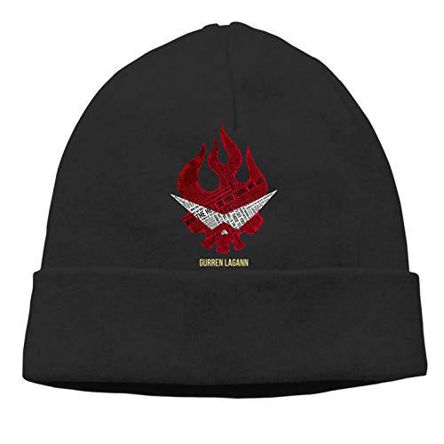 GekhHaon Gurren Lagann Men's and Women's Beanie Hats Skull Cap Knitting hat Pullover Warm Hedging Cap (Thin Style)