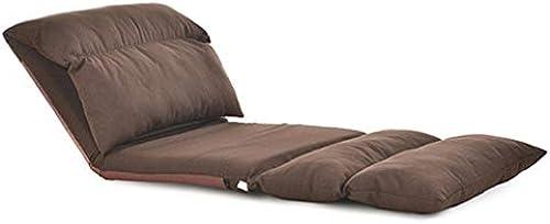XHCP Couchbetten mit Rückenstütze für Kinder, Größes verstellbares faules Sofa, für Meditationsseminare, Lesen beim Fernsehen, Spielen, komplett zusammengestellt, Leinen (Farbe  BRAUN)