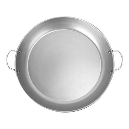 Doitool Sartén Redonda para Asar a La Parrilla con Tapa de Aluminio Fundido Sartén para Horno Teppanyaki para Asar a La Parrilla (35CM de Plata)