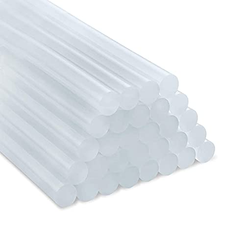 Bâtons de Colle Chaude, 50 Pièces Adhésif Hot Melt Thermofusible Transparents pour Pistolet à Colle Chaude 7 mm, Travaux, Loisirs Créatifs, 7 mm x 180 mm