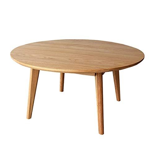 Xu-table Mesa de Madera Maciza, Escritorio Redondo de la Oficina Interior - Mesa de Centro Sala de Estar Restaurante Mesa de la Sala de reuniones (Color : Beige, Size : 60 * 60 * 40CM)