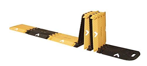 Pro²Tect Fahrbahnschwelle DH-PSP-1, falt- und tragbar, Länge 3 m, Kapazität 2 t, Vehrkehrsberuhigung, Bremsschwelle, Temposchwelle, Straßenschwelle, Gelb/Schwarz