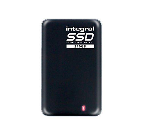 Integral 240GB Portable SSD Drive USB 3.0 External SSD Black