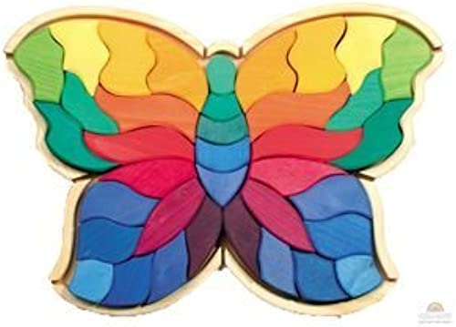 más vendido Spiel & Holz Design Butterfly Wooden Puzzle Puzzle Puzzle by Grimm's  descuento online