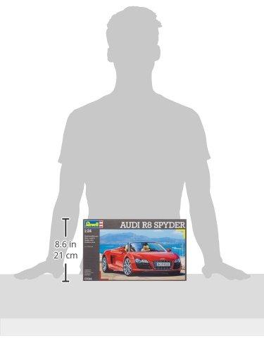 Revell Modellbausatz Auto 1:24 - Audi R8 Spyder im Maßstab 1:24, Level 4, originalgetreue Nachbildung mit vielen Details, 07094