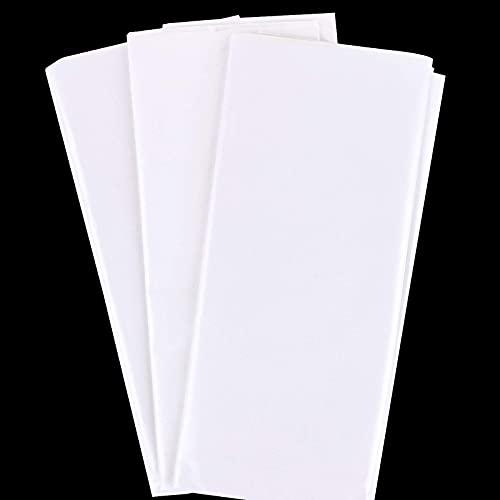 30hojas Papel de Seda para Envolver Regalos Flores Papel de Regalo 50x66cm para Decoración Manualidades DIY San Valentín Bodas Fiestas Cumpleaños Navidad Blanco