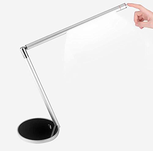 Lámpara de Mesa, Joly Joy Lámpara de Escritorio LED Plegable 7W Luz Multiángulo Ajustable Recargable con 2 Modos de Luz Temperatura del Color (3000-5500K)