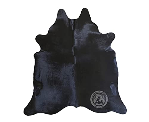 Tapis de Peau de Vache Ton Sombre 190 x 160 cm – Qualité Supérieur de PIELES DEL SOL