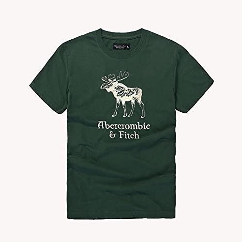 MONA@FILTER Mujeres hombres algodón camiseta de manga corta verano polo casual camiseta top sportswear,Verde,L