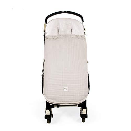 Walking Mum. Saco silla de paseo Baby Nature Sand. Funda para silla de paseo. Uso universal y compatible con la mayoría de los carros y portabebés. Color Beige.