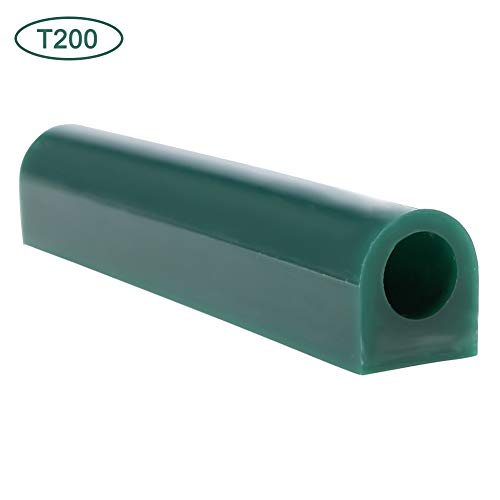 Jewelry Ring Tool Green Carving Wax Tube, Carving Wax Ring Tube for Making Rings Mold Round Wax Tube With Centred Hole/Hard Wax/Solid Carving Wax Tube blank Large Flat Side Tube (T200)