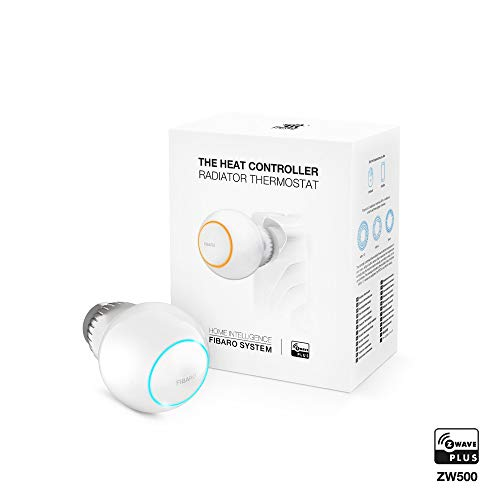 Fibaro FGT-001 The Heat Controller/Tête Thermostatique Z-Wave, Blanc