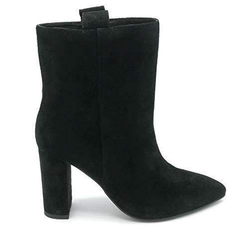 Bibilou 546T30 Wildleder-Stiefelette schwarz Rundabsatz 8 cm - Schuhgröße 35 Farbe schwarz