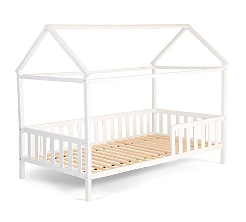 Alcube Hausbett 160x80 cm - 3 bis 9 Jahren - vielseitiges Holz Kinderbett für Jungen & Mädchen -...