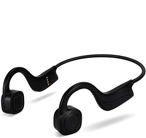 Cuffie Conduzione Ossea Wireless per Nuoto, IP68 Impermeabile Open-Ear 8 GB Lettore Musicale MP3 Auricolari Sportivi Wireless Cuffie Microfono con Cancellazione del Rumore Nero