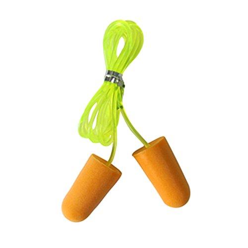 Tourbon Corda In Nylon Orange In Spugna Monouso Spina Di Orecchio Tappi Per Le Orecchie Riduttore Di Rumore confezione da 5 paia)