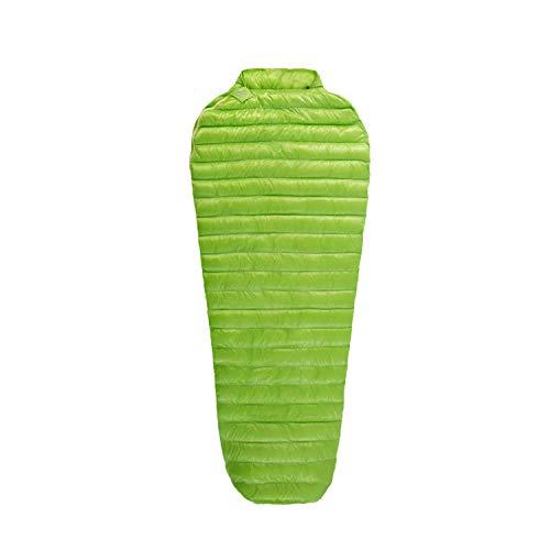 AEGISMAX Outdoor Ultra-Light Goose Down Sleeping Bag Three-Season Down Sleeping Bag Mummy Down Sleeping Bag Green (Regular)