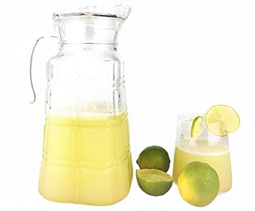 Brocche e Caraffa Acqua - Caraffa Vetro con Coperchio Brocca Acqua più bottiglia Acqua fenicottero Caraffa Refrigerante per Succo (Brocca Glass Jug)