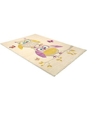 Kinderteppich Eule und Schmetterlinge - 3