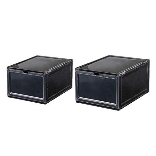 HYAN Zapatero Caja de Zapatos de plástico de cajón Engrosado se Puede apilar Caja de Almacenamiento de Tipo rotafolio DIY Caja de cajones de Deporte Multifuncional Caja de Zapatos (Color : 5)