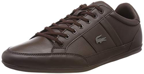 Lacoste Mens Chaymon BL 1 CMA Sneaker, Braun (Dark Brown/Dark Brown), 45 EU