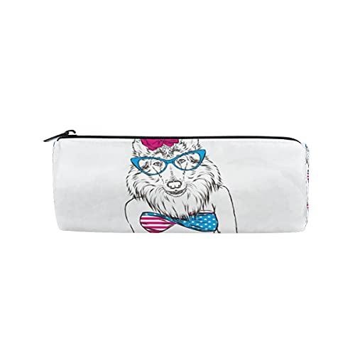 HaJie Federmappe lustiges Badeanzug-Hund-Stifttasche mit Reißverschluss Schreibwaren-Organizer Tasche für Mädchen Jungen Kinder Damen Herren