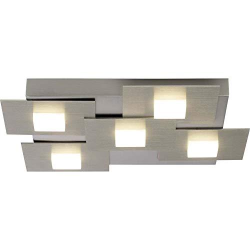 BRILLIANT lamp Numbers LED plafondlamp 5 flg ijzer |5x 4,5W LED geïntegreerd (SMD), (451lm, 3000K) |Schaal A ++ tot E |Dimbaar in 3 stappen met een wandschakelaar