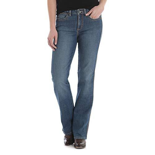 Wrangler Women's Aura Instantly Slimming Mid Rise Boot Cut Jean, Blue Legend, 10 Short
