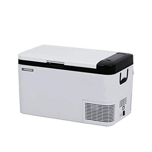 MAGIRA Cuba 25 Liter leichte Kompressor-Kühlbox 12/24V und 230V CB25-C elektrischer Mini-Kühlschrank für Camping, Auto oder LKW mit Steckdose und USB-Anschluss