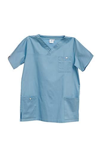 Exterior medical apparel Herren Kasack Andorn aus Bio Baumwolle dunkelblau (XXL)