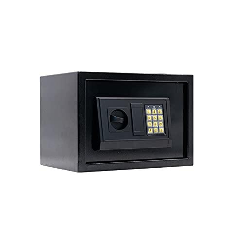 GLXYTT Seguridad Hogar Caja Fuerte Teclado Digital Caja De Seguridad Bloqueo del Teclado Documentos Seguros, Joyas, Objetos De Valor,Negro
