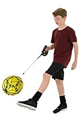Re-Coil Mechanism For Fast Action And Control Practice Shaped Handle With Rubberised Surface For Extra Grip Instant Cord Locking Feature For Close Control Training Universal Ball Holder To Fit All Standard Size Footballs PLEASE NOTE: Football Not Inc...