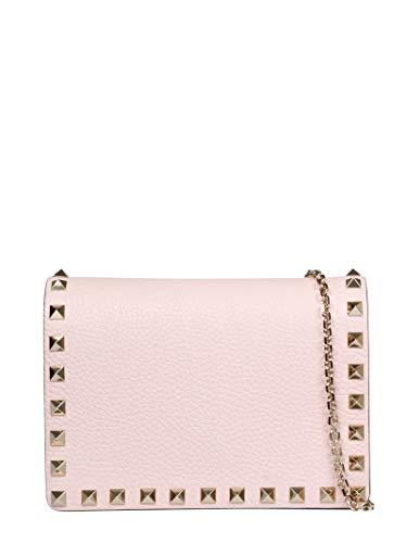Luxury Fashion | Valentino Garavani Dames TW2P0249VSH16Q Roze Leer Schoudertassen | Lente-zomer 20