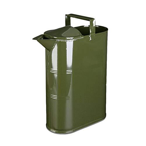 RGH Portátil Bidón De Gasolina Diesel Can 15L Metal Cubo De Reaprovisionamiento De Combustible del Tanque con La Manija