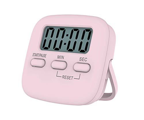 Soyerras Timer da Cucina Digitale Magnetico/Conto alla Rovescia Cronometro/Timer con Allarme Forte Cifra Grande Supporto Posteriore Foro Sospeso per Cucinare Doccia Bagno Bambini Insegnante