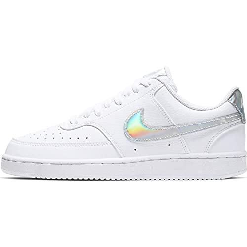 Nike Court Vision Low, Zapatillas de básquetbol Mujer, White/Multi-Color-Black, 38 EU