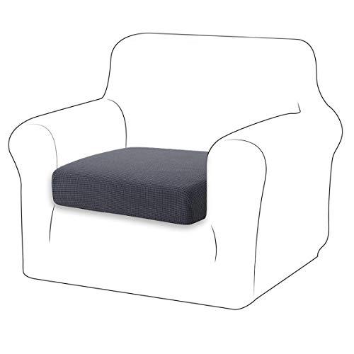 TIANSHU Housse de Coussin Extensible Coussin de canapé Housse de Protection pour Meubles Housse de siège de canapé pour canapé Housse de Coussin 1 Place pour Chaise (1 Place, Gris)