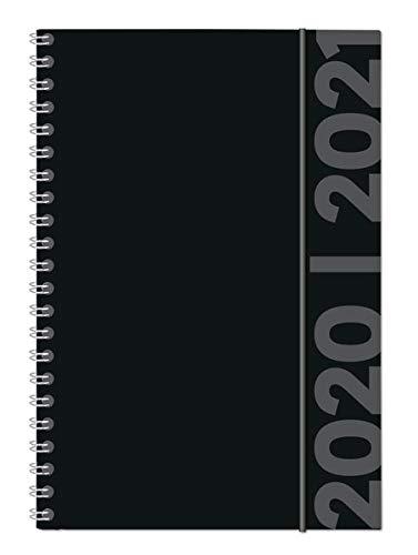 Collegetimer Black Label 2020/2021 - Schüler-Kalender A5 (15x21 cm) - schwarz - Ringbindung - Weekly - 224 Seiten - Terminplaner - Alpha Edition (Collegetimer A5 Ringbuch)