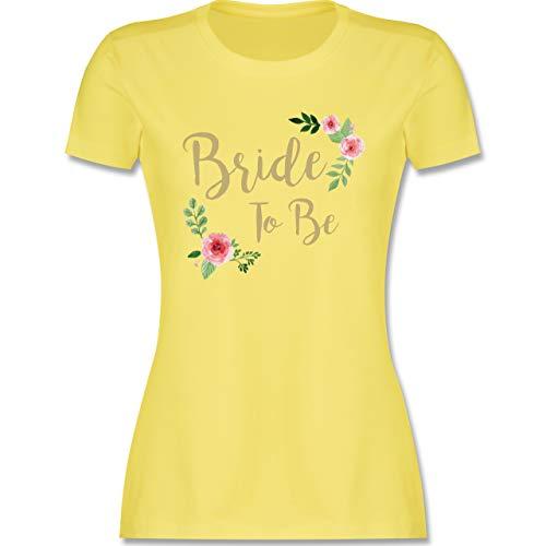 JGA Junggesellinnenabschied - Bride to Be - XXL - Lemon Gelb - t-Shirt Bride to be schwarz - L191 - Tailliertes Tshirt für Damen und Frauen T-Shirt