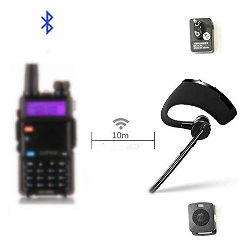 Walkie Talkie Bluetooth PTT earpiece Handfree Wireless Headphone Headset Mic for BaoFeng UV-82 UV-5R BF-888S TYT Two Way Radio