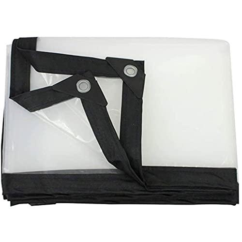 Lona De ProteccióN Multiusos Para Al Aire Libre, Plegable Transparente Cortina Impermeable Con Ojales,Lonas Transparentes Impermeables Pe Con Ojales ProteccióN Solar, Impermeable (Size: 6*6m(19.7*1
